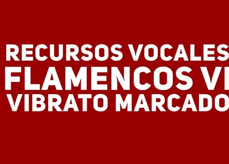 13. Recursos vocales VI. Vibrato marcado. Cante Flamenco Global.