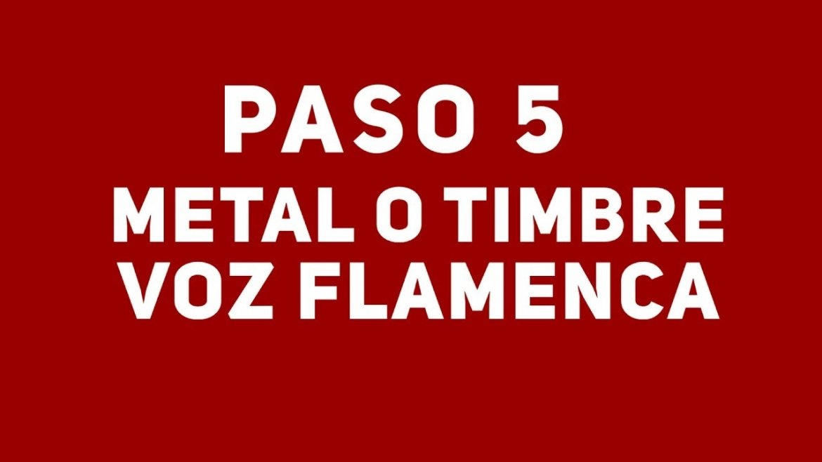 14. La voz flamenca. El metal o timbre. Cante Flamenco Global.