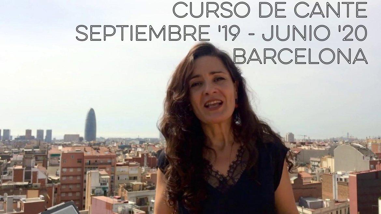 Curso de Cante Flamenco en Barcelona. Septiembre'19 – Junio'20